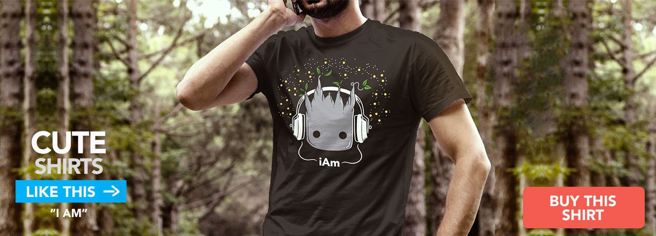 Cute Graphic Tee: Baby Groot