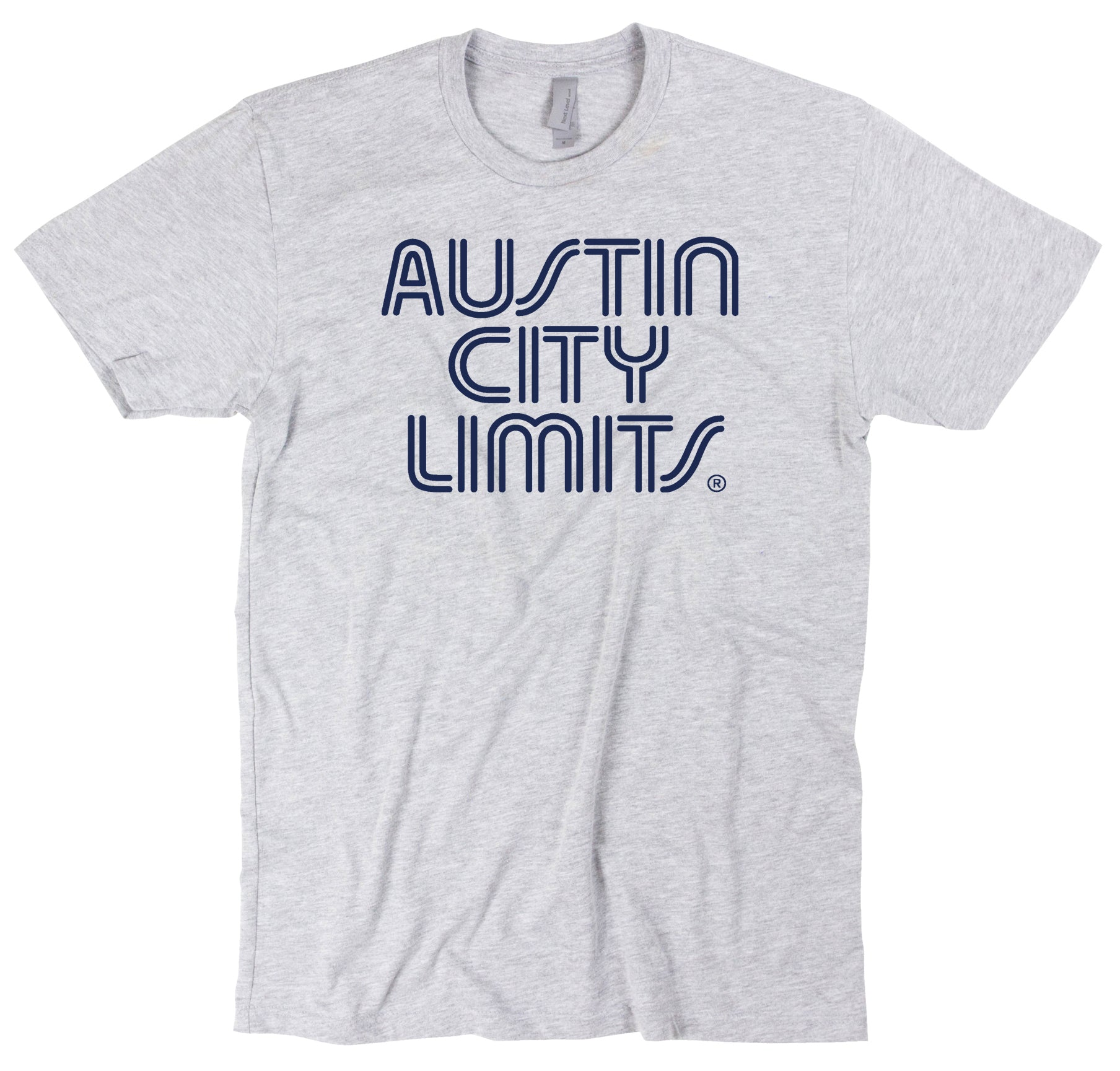 Gray Unisex Tee with Navy ACL Logo