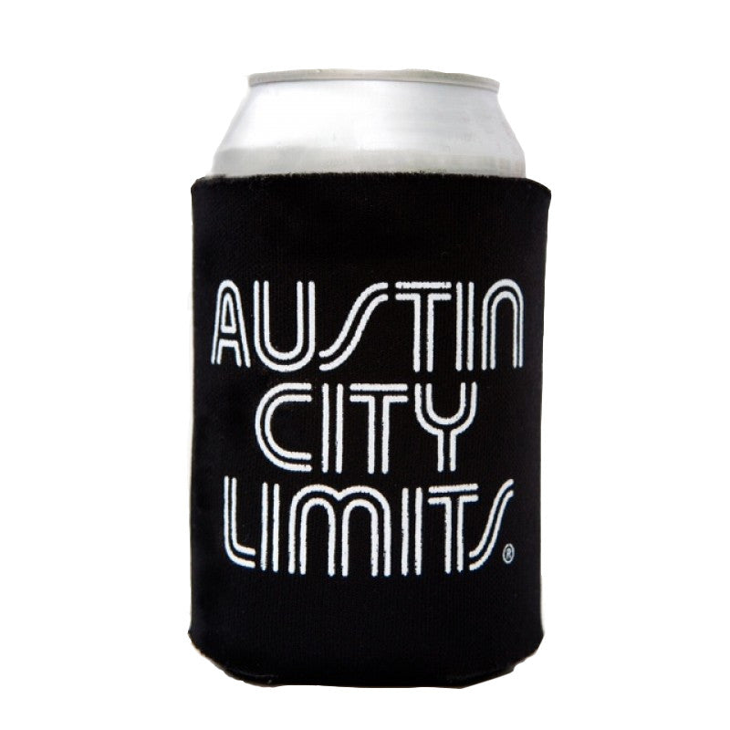 Austin City Limits Black Collapsible Can Koozie