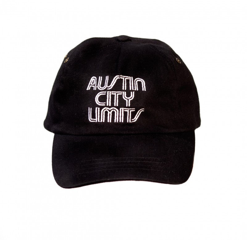 Austin City Limits Embroidered Black Cotton Twill Hat