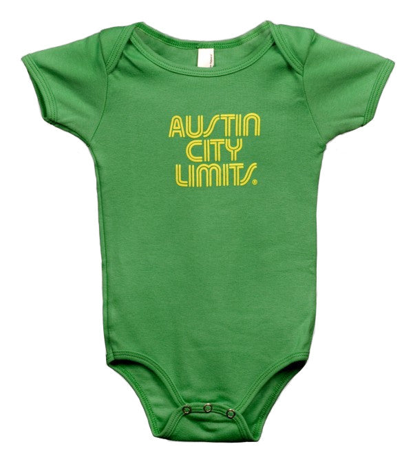 Green Infant Bodysuit with Yellow ACL Logo