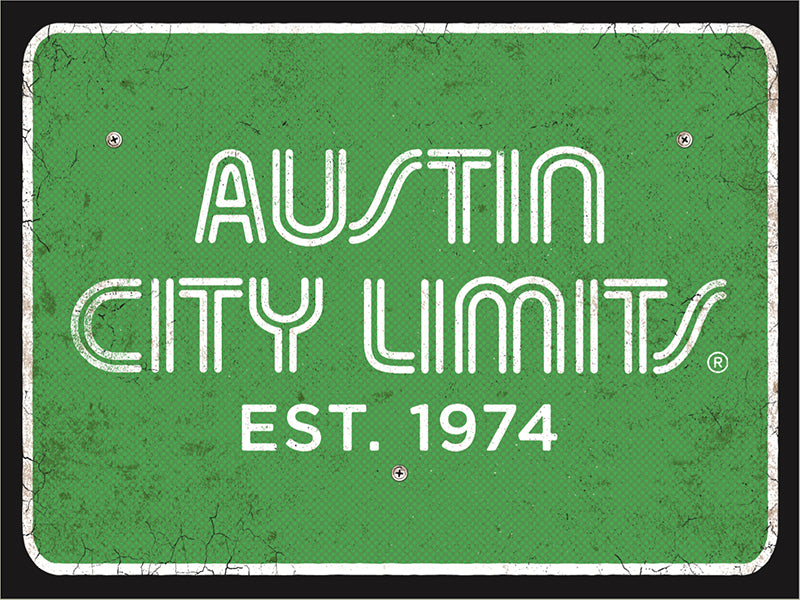 1974 Austin City Limits Road Sign