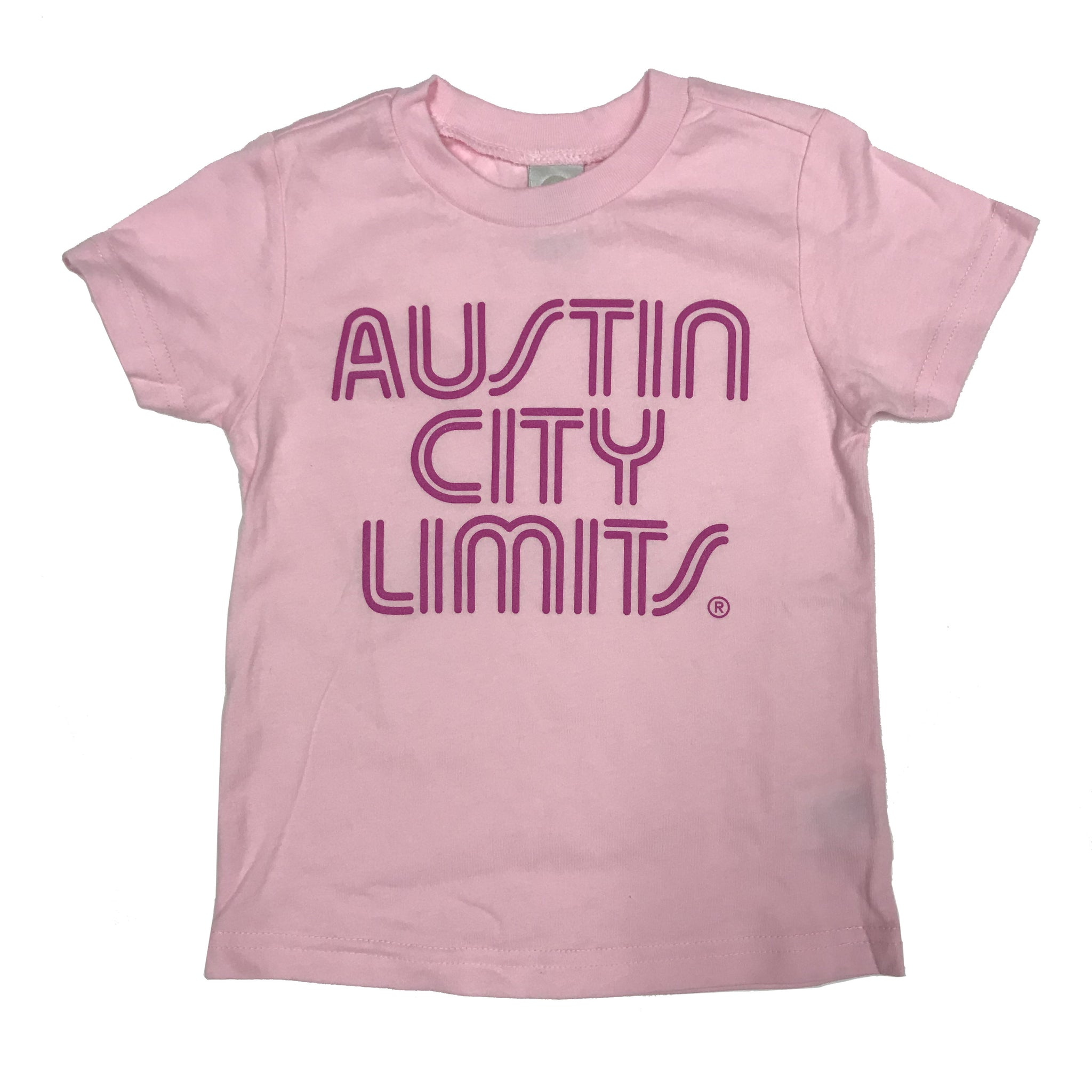 Pink Toddler Tee with Dark Pink ACL Logo