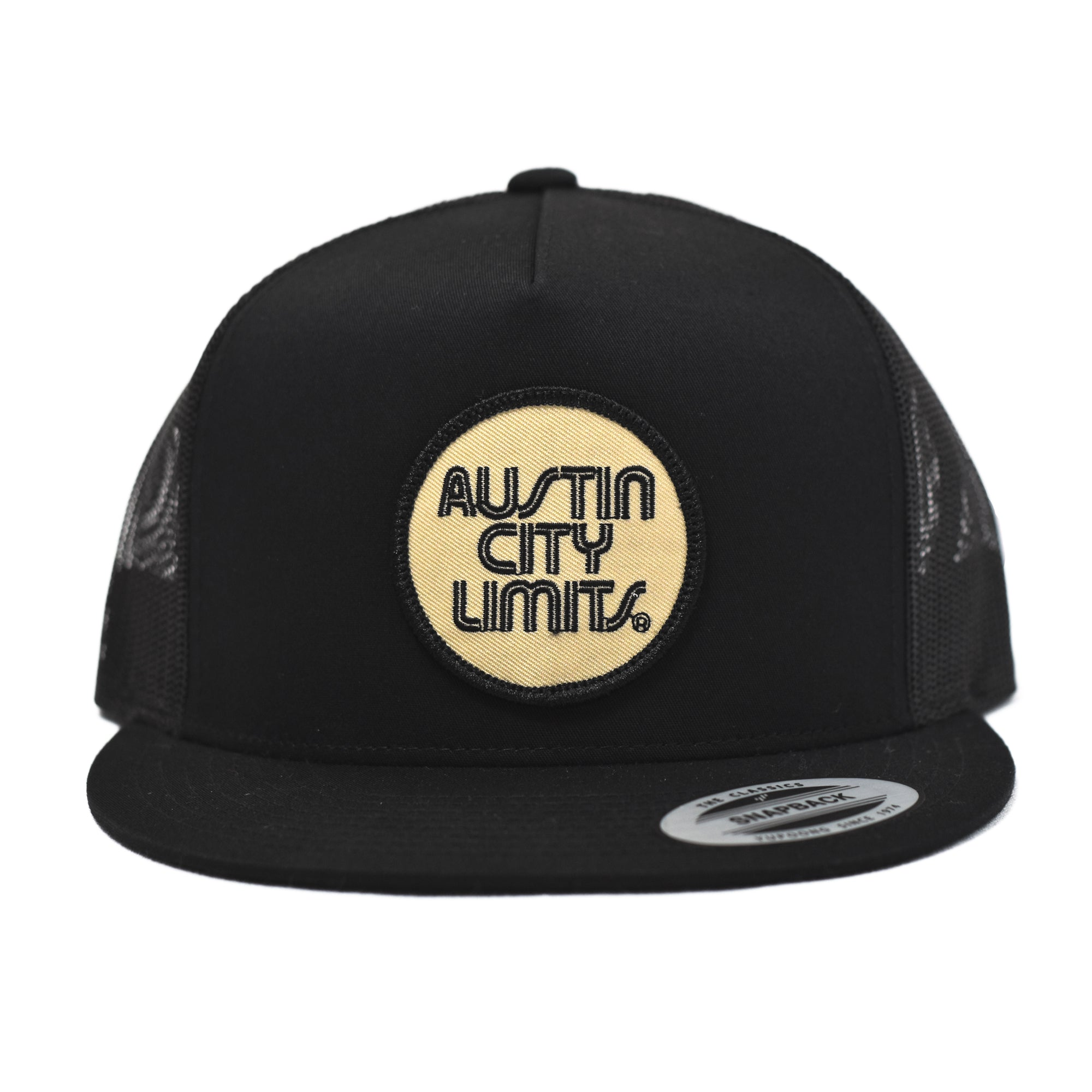 Austin City Limits Black & Tan Mesh Flat Bill Snapback
