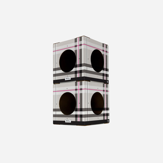 2 Pack Plaid Cat Box