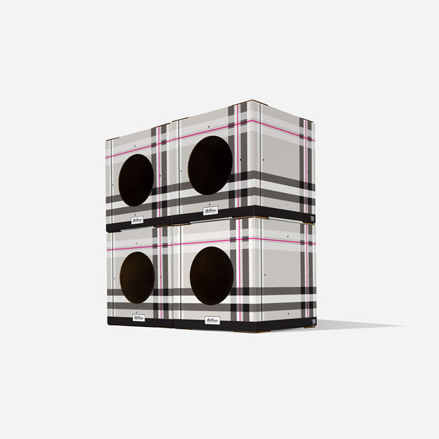 modular 4 Pack Plaid Cat Box toy Design