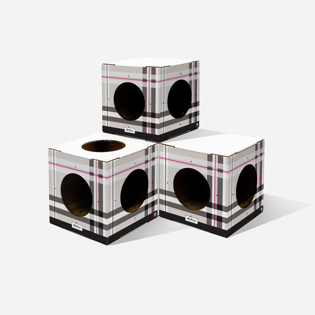 4 Pack Plaid Cat Box Design