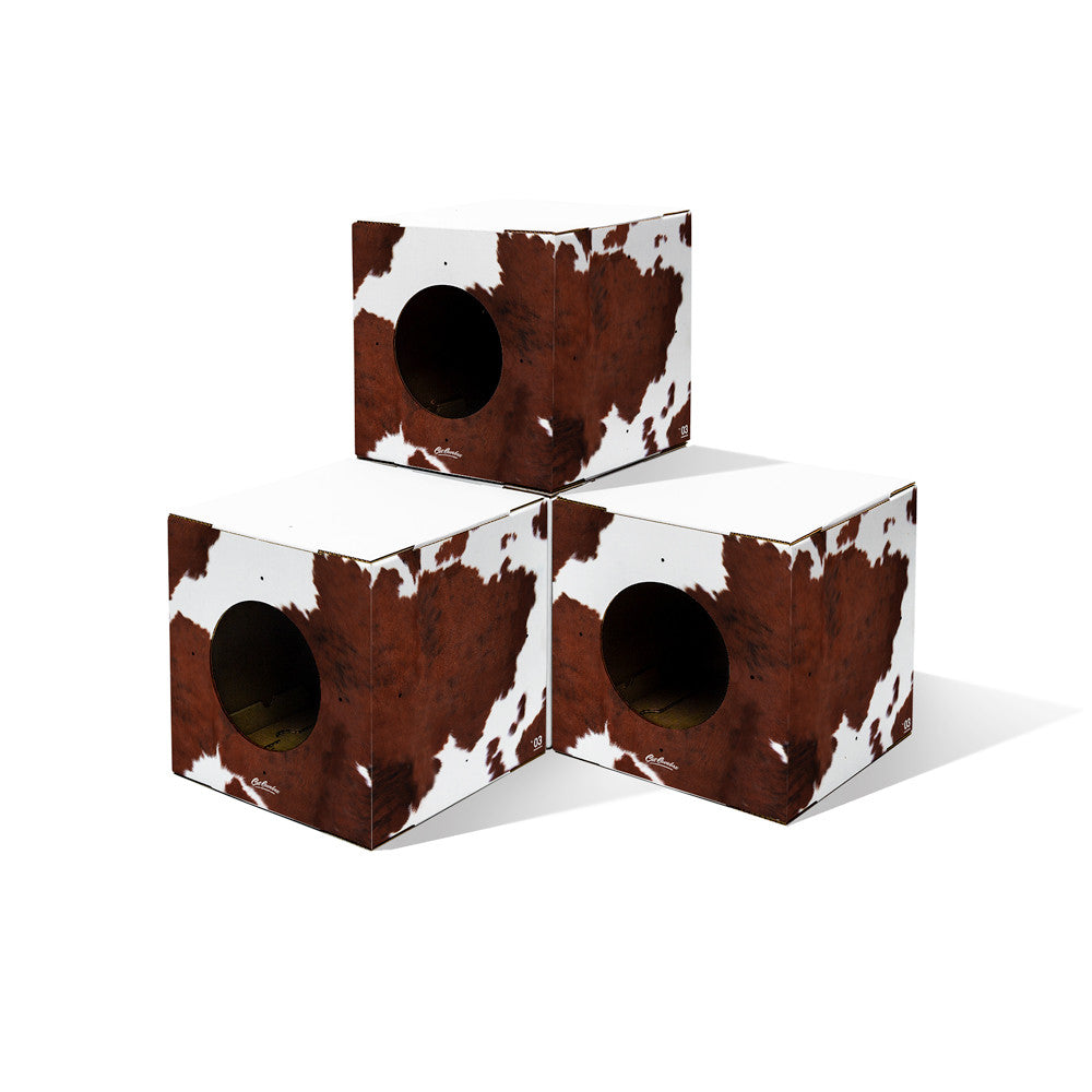 Modular cowhide 4 Pack Cat house Box