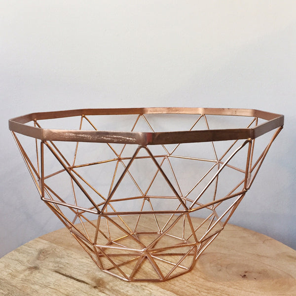 Copper Geo Basket