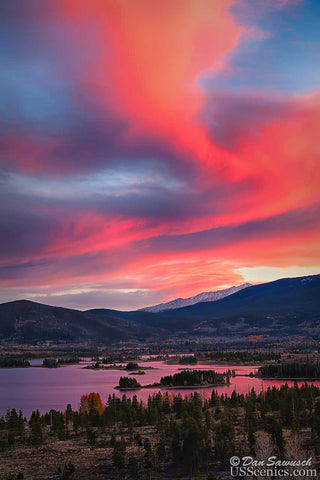 Sunset over Lake Dillon