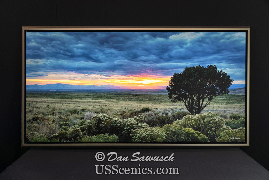 Moody Blue Sunset 24x48 Canvas Special