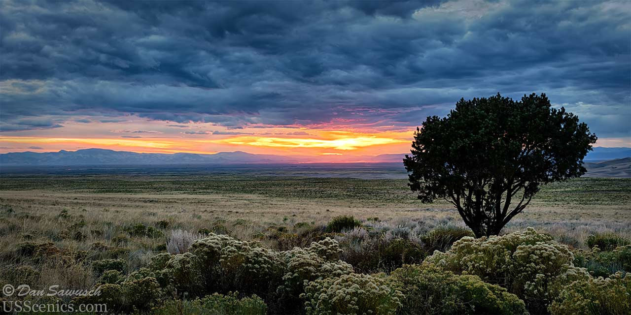 sunset near the great sand dunes national park