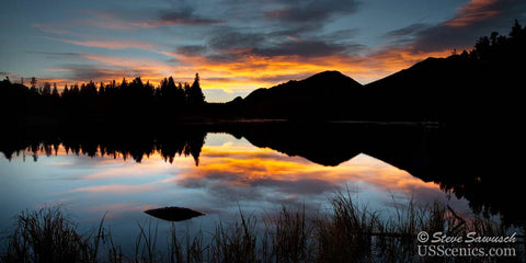 Sunrise over Sprague Lake in Rocky Mountain National Park near Estes Park, Colorado