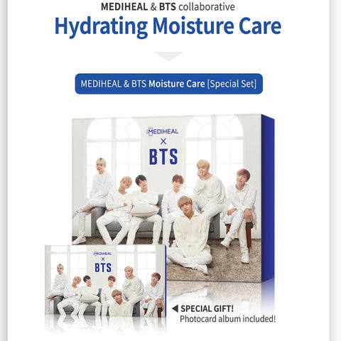 MEDIHEAL X BTS HYDRATING MOISTURE CARE SPECIAL SET - 10PCS