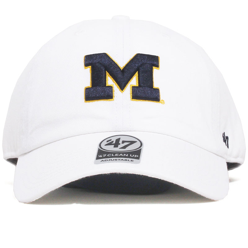 University of Michigan Wolverines Block M Clean Up Hat White