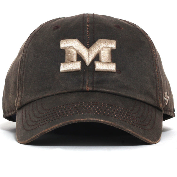 University of Michigan Wolverines Oil Cloth Clean Up Hat Brown