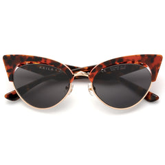 AKILA x Love Made Cat Eyes Sunglasses Tortoise / Red / Black / Gold