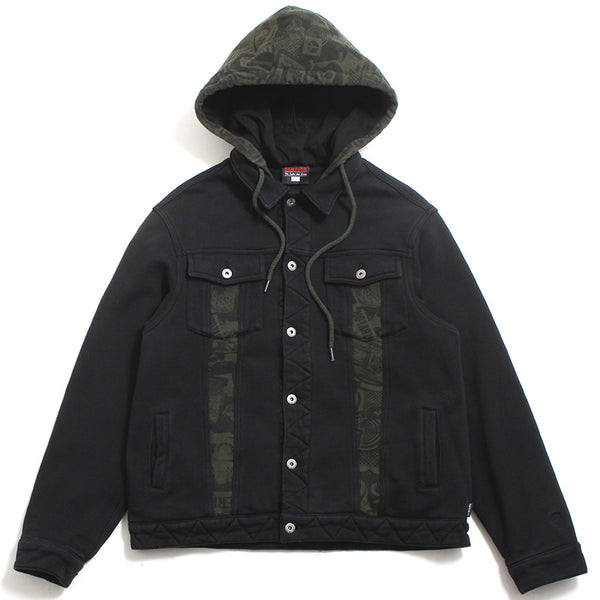 Fleece Trucker Jacket Black