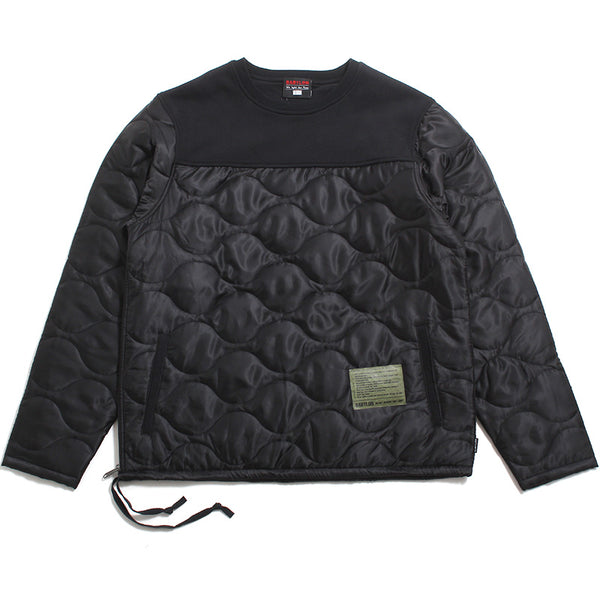 Quilted Crewneck Black