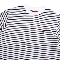 Yarn Dyed Stripe T-Shirt White