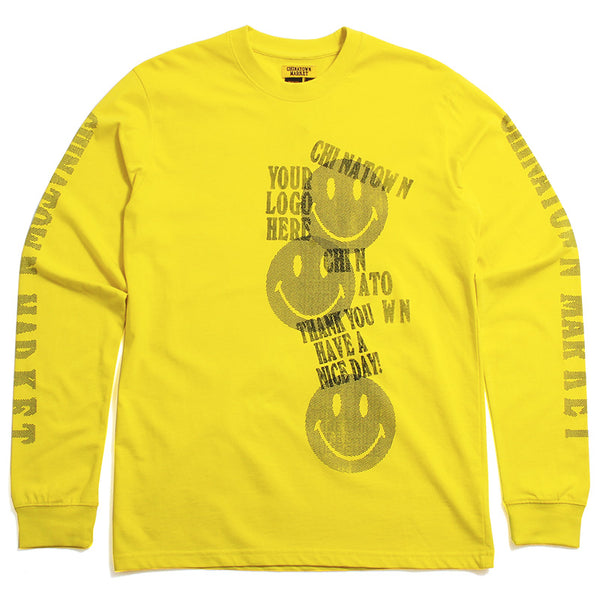 Print Gun Long Sleeve T-Shirt Yellow