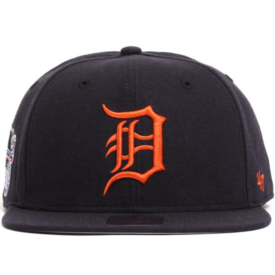 Detroit Tigers Sure Shot Snapback Hat Navy / Orange