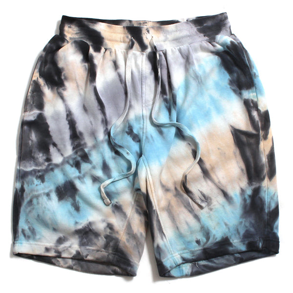 Tie Dyed Shorts Cream / Light Blue