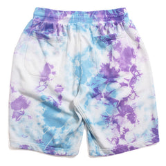 Tie Dyed Shorts Light Blue / Purple