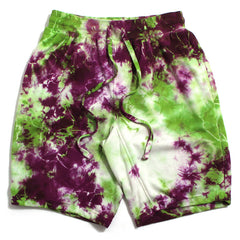 Tie Dyed Shorts Lime / Pink