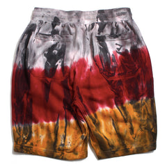 Tie Dyed Shorts Red / Mustard