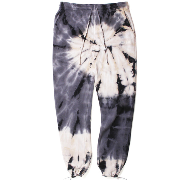 Tie Dyed Sweatpants Grey / Cream