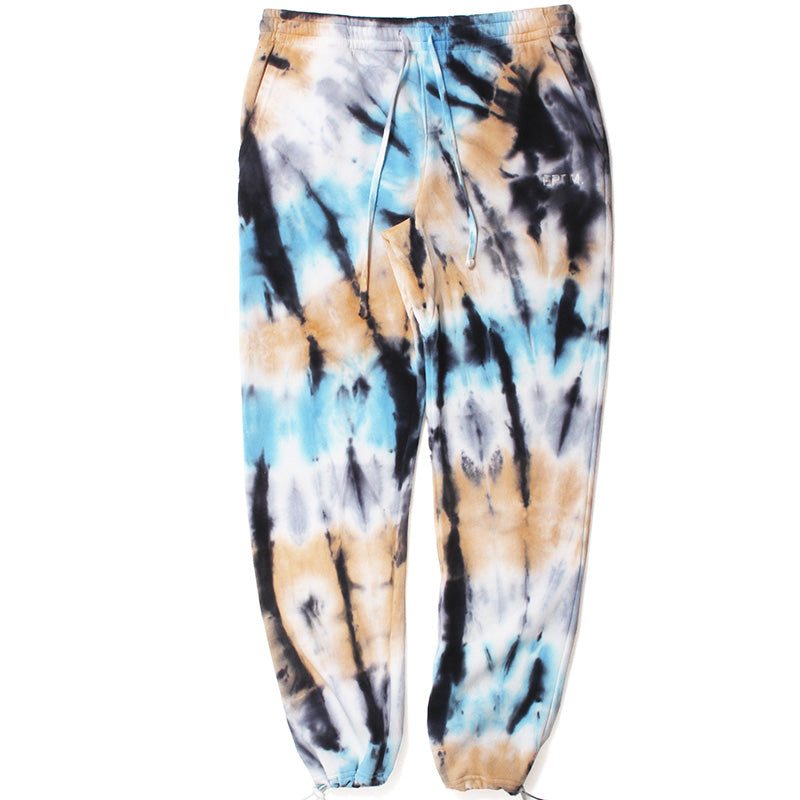 Tie Dyed Sweatpants Cream / Light Blue