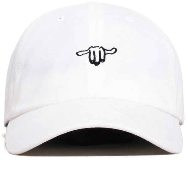 Hand Logo / Stay Gracious Dad Hat White