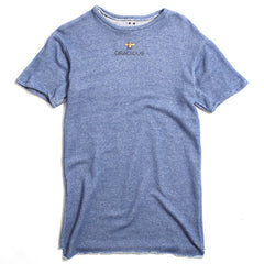 Gracious x Barth NY Oversized French Terry T-Shirt Blue