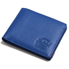 Hank Wallet Cobalt Pebbled Leather