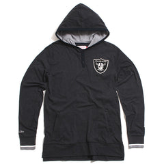 Oakland Raiders Seal The Win Hooded Longsleeve Shirt Heather Black