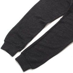 Double Wave Lightweight French Terry Sweatpants Heather Black