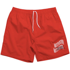 Double Wave Lightweight Shorts Red
