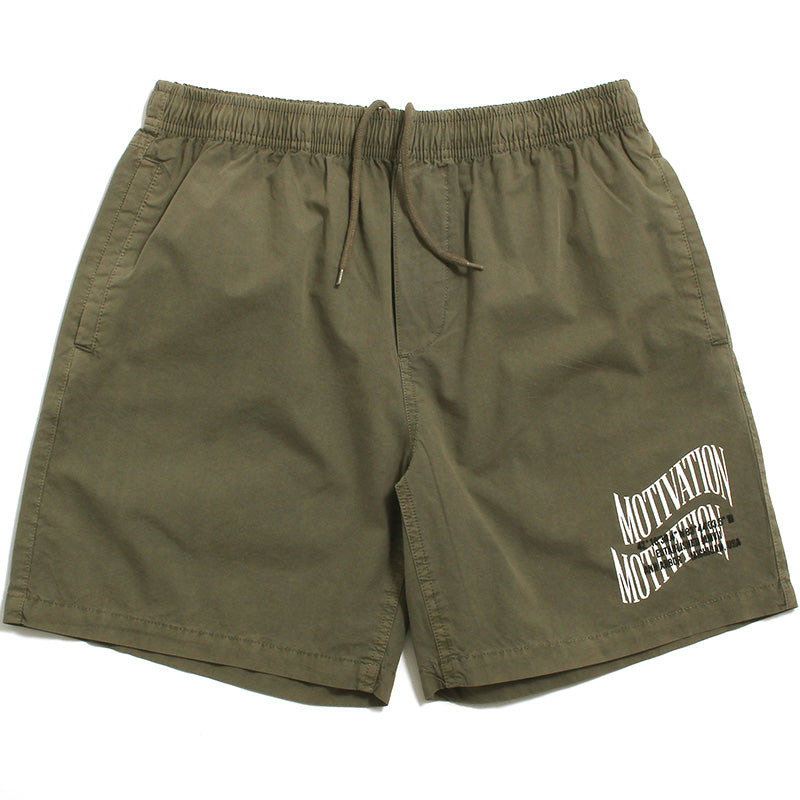 Double Wave Lightweight Shorts Washed Olive