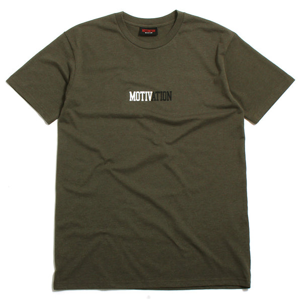Motivation Logo T-Shirt Dark Olive Heather
