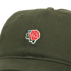 Peach Rose Unstructured Hat Olive