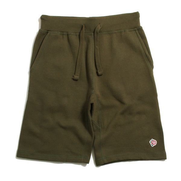 Rose Patch Sweatshorts Olive