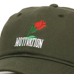 Rose Stem Unstructured Hat Olive