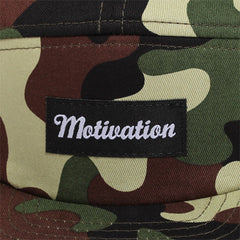 Motivation 5-Panel Camp Hat Swamp Camo