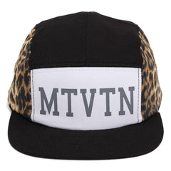 Tour 5-Panel Camp Hat Black / Leopard