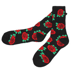 Allover Rose Socks Black