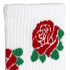 Allover Rose Socks White
