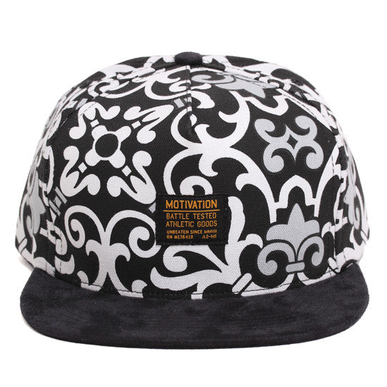 Battle Tested Strapback Hat Royal Paisley