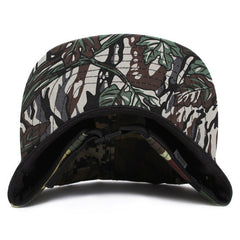 MTVTN Leather Patch 5-Panel Camp Hat Multi Camo