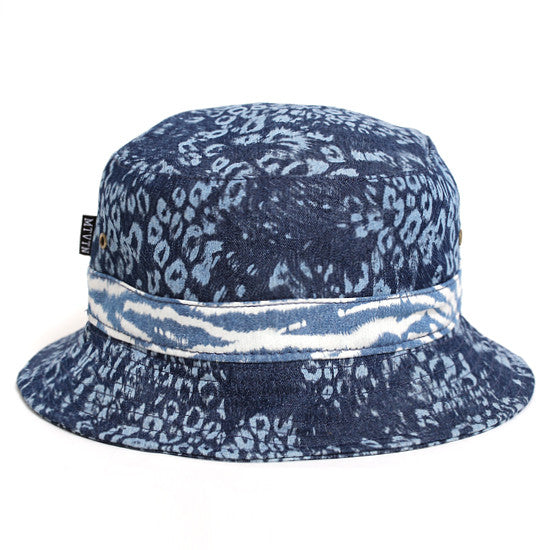 Leopard Chambray Bucket Hat